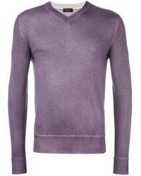 Berluti - Multicolor V-neck Jumper for Men - Lyst