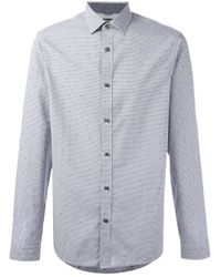 Michael Kors   Gray - Slim Fit Checked Shirt - Men - Cotton - Xs for Men   Lyst