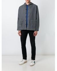 Sunnei - Gray Boxy Hooded Jacket for Men - Lyst