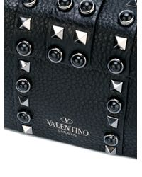 Valentino - Black My Rockstud Rolling Single Handle Bag - Lyst