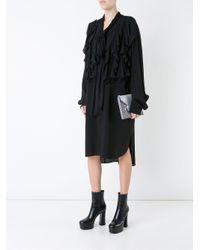 Faith Connexion | Black Jersey Ruffled Dress | Lyst