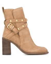 See By Chloé | Natural - 'janis' High Boots - Women - Leather - 40 | Lyst