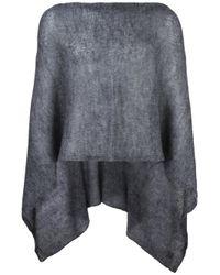 Al Duca D'aosta - Gray Al Duca D'aosta 1902 Semi-sheer Knitted Short Cape - Lyst