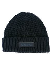 Woolrich - Blue Ribbed Beanie for Men - Lyst