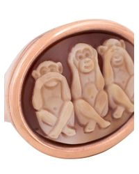 Amedeo - Metallic 'monkeys' Ring - Lyst