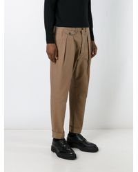 Wooster + Lardini - Blue Pleated Tailored Trousers for Men - Lyst