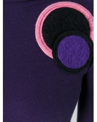 Emporio Armani - Pink Circle Patch Jumper - Lyst