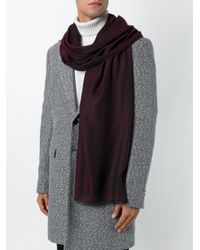 Z Zegna - Red Frayed Edge Scarf for Men - Lyst