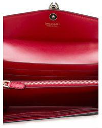 BVLGARI | Red Flap Elongated Wallet | Lyst