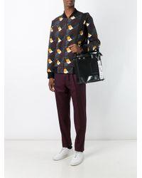 KENZO - Black 'kanvas' Messenger Bag for Men - Lyst