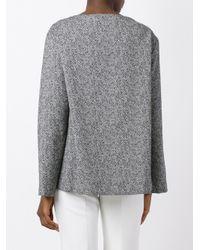 Erika Cavallini Semi Couture - Black Round Neck Sweatshirt - Lyst