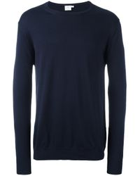 Sunspel | Blue Crew Neck Jumper for Men | Lyst