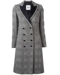 Rossella Jardini | Black - Glen Plaid Buttoned Coat - Women - Polyamide/acetate/viscose/wool - 42 | Lyst