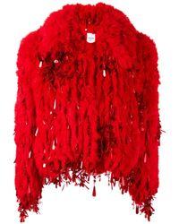 Ashish | Red Short Fur Jacket | Lyst