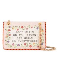 Moschino - Pink 'good Girls Go To Heaven' Shoulder Bag - Lyst