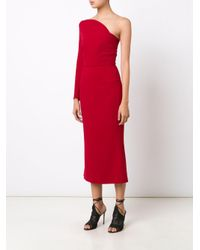 Roland Mouret - Red 'linvan' One-shoulder Dress - Lyst