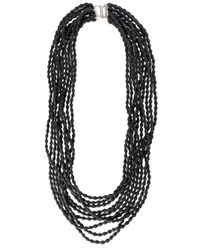 Marc Le Bihan - Black Multi Layer Beaded Necklace - Lyst