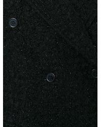 Piccione.piccione - Black Long Tweed Coat - Lyst