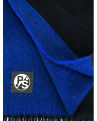 PS by Paul Smith - Blue Bicolour Scarf for Men - Lyst