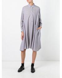 Henrik Vibskov - Blue Striped Shirt Dress - Lyst