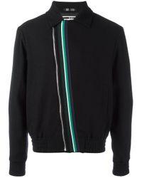 McQ | Black Striped Detail Bomber Jacket for Men | Lyst