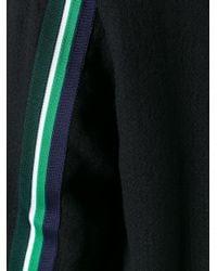 McQ - Black Striped Detail Bomber Jacket for Men - Lyst