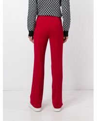 Theory Multicolor Mitrana Silk Straight-leg Pants
