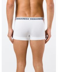 DSquared² - White Logo Boxers for Men - Lyst