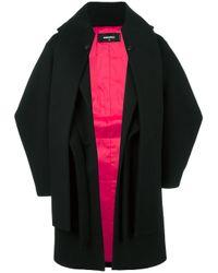 DSquared²   Black Oversized Layered Coat   Lyst