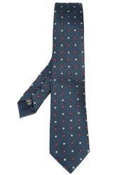 Ermenegildo Zegna | Blue - Floral Pattern Tie - Men - Silk - One Size for Men | Lyst