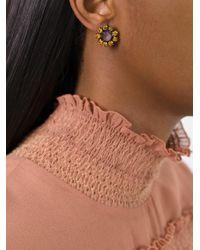Rada' - Multicolor Radà Stone Embellished Earrings - Lyst