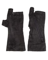 Julius - Black Fingerless Gloves for Men - Lyst