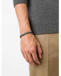 Title Of Work - Metallic Braided Mesh Band Bracelet for Men - Lyst