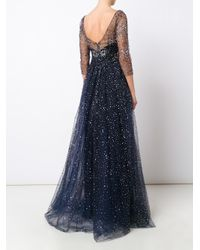 Notte by Marchesa - Black Embellished Gown - Lyst
