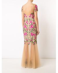 Notte by Marchesa | Pink Floral Embroidery Dress | Lyst