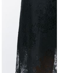Carven - Black Scalloped Hem Lace Skirt - Lyst