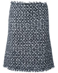 Giambattista Valli | Black Tweed Skirt | Lyst