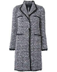 Giambattista Valli | Black Tweed Long Coat | Lyst
