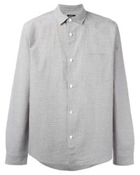 A.P.C. | Brown Chest Pocket Shirt for Men | Lyst