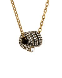 Marc Jacobs - Metallic Twist Pendant Necklace - Lyst