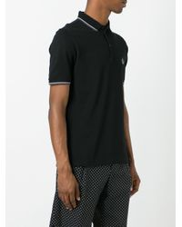 Dolce & Gabbana | Black Embroidered Crown Polo Shirt for Men | Lyst