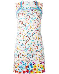 Peter Pilotto | White Printed 'stamp' Dress | Lyst