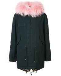 Mr & Mrs Italy | Green Flap Pockets Parka Coat | Lyst