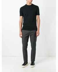 Zanone - Black Plain T-shirt for Men - Lyst