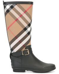 Burberry | Black 'house Check' Rain Boots | Lyst