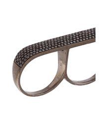 AS29 - Black 'lana' 3-finger Ring - Lyst