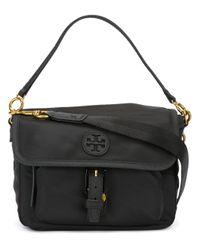 Tory Burch | Black Logo Patch Crossbody Bag | Lyst