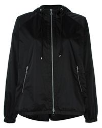 Theory | Black - Hooded Jacket - Women - Polyester - M | Lyst