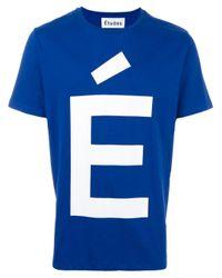 Etudes Studio | Blue 'page Accent' T-shirt for Men | Lyst
