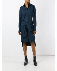 Maison Margiela | Blue Deconstructed Shirt Dress | Lyst